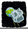 Asteroid Cartoon Image