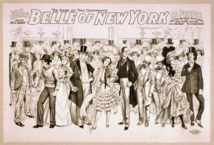 Geo. W. Lederer S Belle Of New York The Rage Of Two Continents : Book By Hugh Morton ; Music By Gustav Kerker. Image