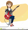 Guitar With Wings Clipart Image