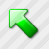 Icon Arrow Up Left Green 3 Image