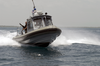 Personnel Assigned To Naval Station Guantanamo Bay Security Harbor Defense On Patrol. Image