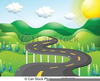 Mountain Road Clipart Image