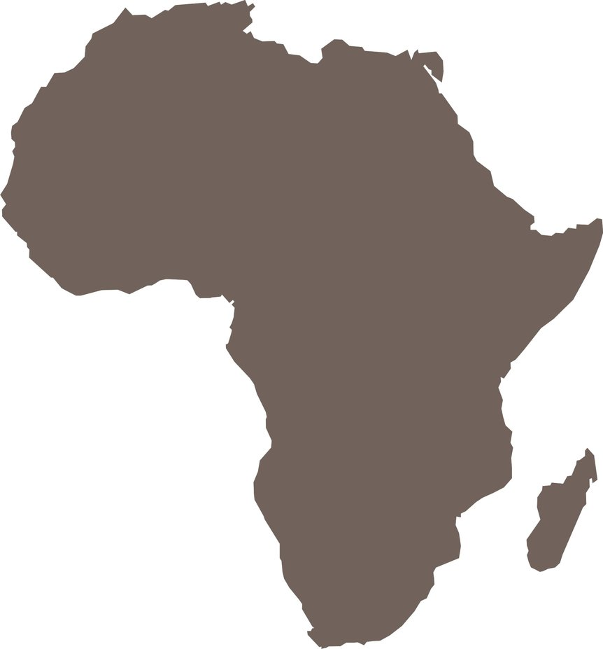 free africa map outline vector