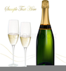 Champagne Bottle And Glasses Clipart Image