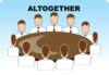 Altogether Seating Arrangement (group Discussion) Clip Art