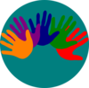 Volunteering Hands - Various Colors 2 Clip Art