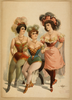 [three Women In Tights And Feathers] Image