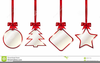 Red Christmas Bows Clipart Image