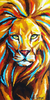 Lioness Painting Abstract Image