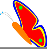 Butterfly Flying Clipart Image