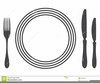 Table Place Setting Clipart Image