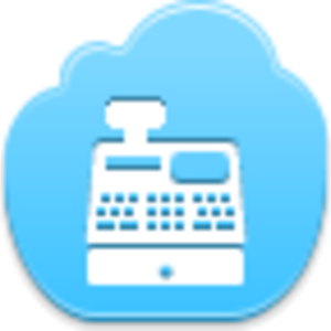 Free Blue Cloud Cash Register Image