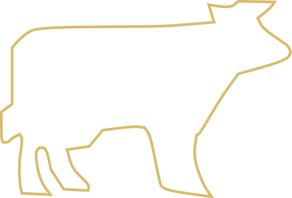 Cow Outline Tan Clip Art at Clker.com - vector clip art ...