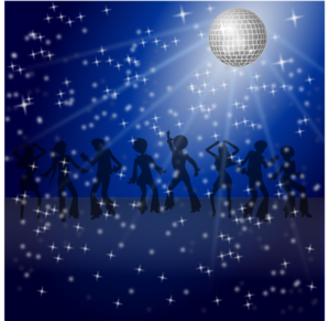 Disco Dancers Clip Art