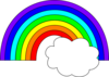 Rainbow With One Cloud Clip Art