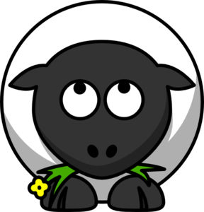 Sheep Looking Up Clip Art
