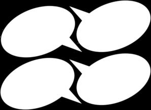 4 Speech Bubbles 2 Clip Art at