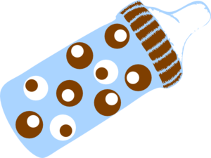 Dotted Bottle Clip Art