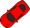 Red Car - Top View - 220 Clip Art