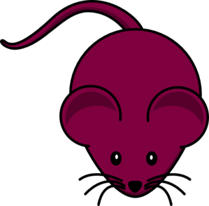 Maroon Mouse Graphic Clip Art