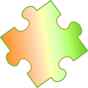 Gradient Puzzle Piece Clip Art