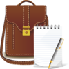 Bag And Notes Clip Art
