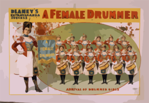 Blaney S Extravaganza Success, A Female Drummer Clip Art