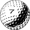 Golf Ball Number 7 Clip Art