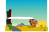 Cartoon Desert Landscape Clip Art