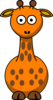Orange Giraffe With 15 Dots- Fixed Nose Clip Art