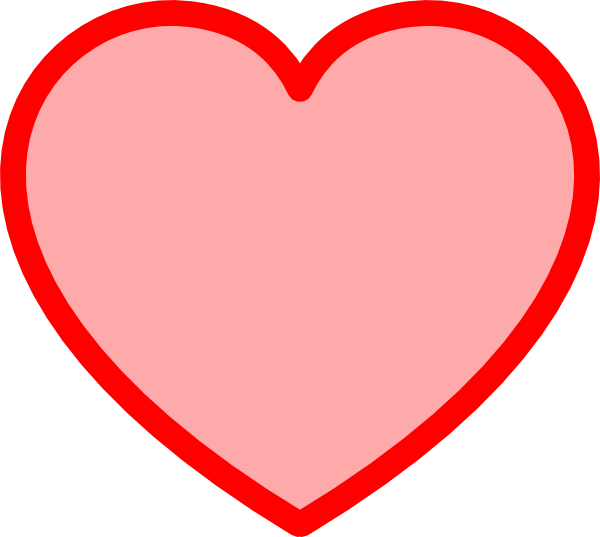 Red Heart Tinted Middle Clip Art at Clker.com - vector ...