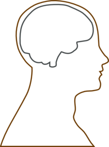 brain hat template - brain blank large clip art at vector clip art