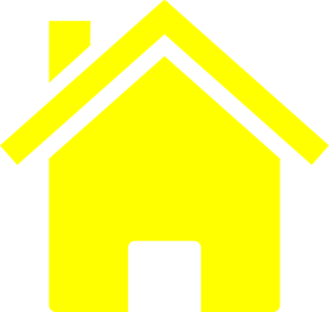 Simple Yellow House Clip Art