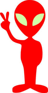 Red alien clipart