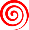 Red Spiral Lollipop Clip Art