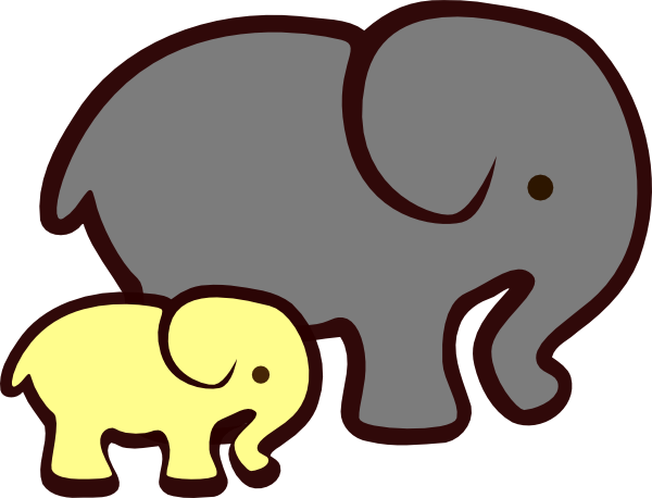 yellow elephant mom baby clip art at clker com vector clip art rh clker com elephant clip art black and white elephant clip art images