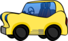 Yellow Cartoon Car Clip Art
