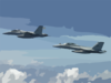 F/a-18f Super Hornets Assigned To The Black Aces Conduct In-flight Refueling Exercises Over Iraq Clip Art