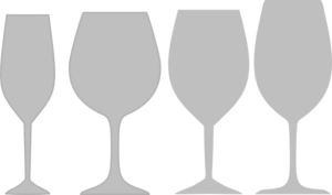 Gray Wine Glass Assortment Clip Art