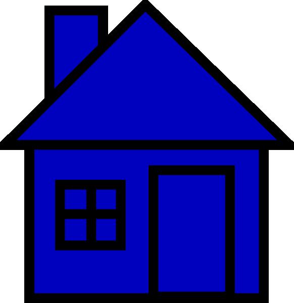 clip art blue house - photo #17
