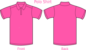 Polo Shirt Pink Clip Art