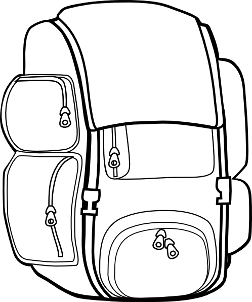 Black Backpack Clip Art at Clker.com - vector clip art ...