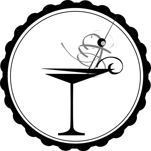 Black And White Martini Glass Clip Art at Clker.com - vector clip art ...