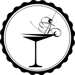 Black And White Martini Glass Clip Art
