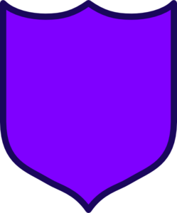 Purple Shield Clip Art