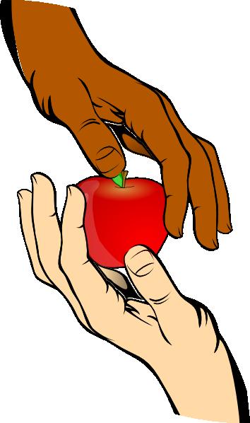 hand share apple clip art at clkercom vector clip art