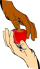Hand Share Apple Clip Art