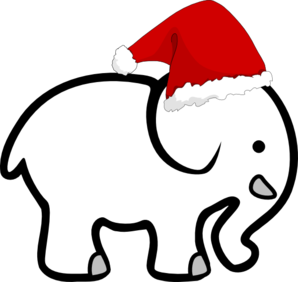 white elephant with santa hat clip art at clker com vector clip rh clker com