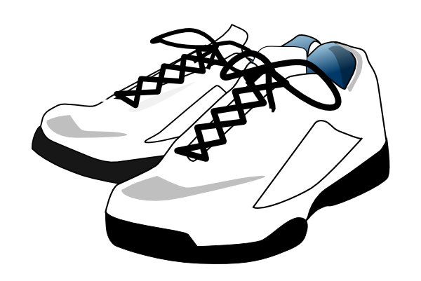 tennis shoes clip art at clker com vector clip art online rh clker com cartoon images of tennis shoes cartoon drawing of tennis shoes