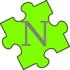 Puzzle Piece Green N Clip Art